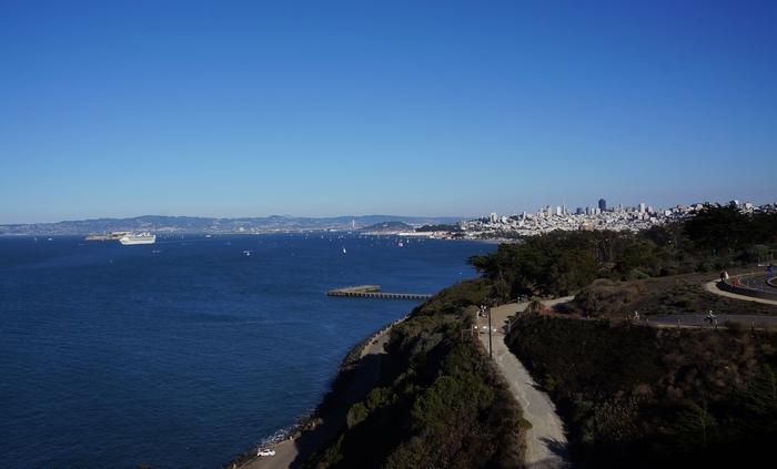 Vue sur San Francico depuis le Golden Gate Bridge