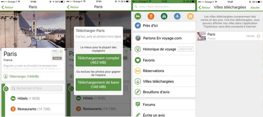 Applis à télécharger en voyage : Tripadvisor