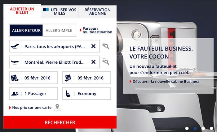 Air France multidestination