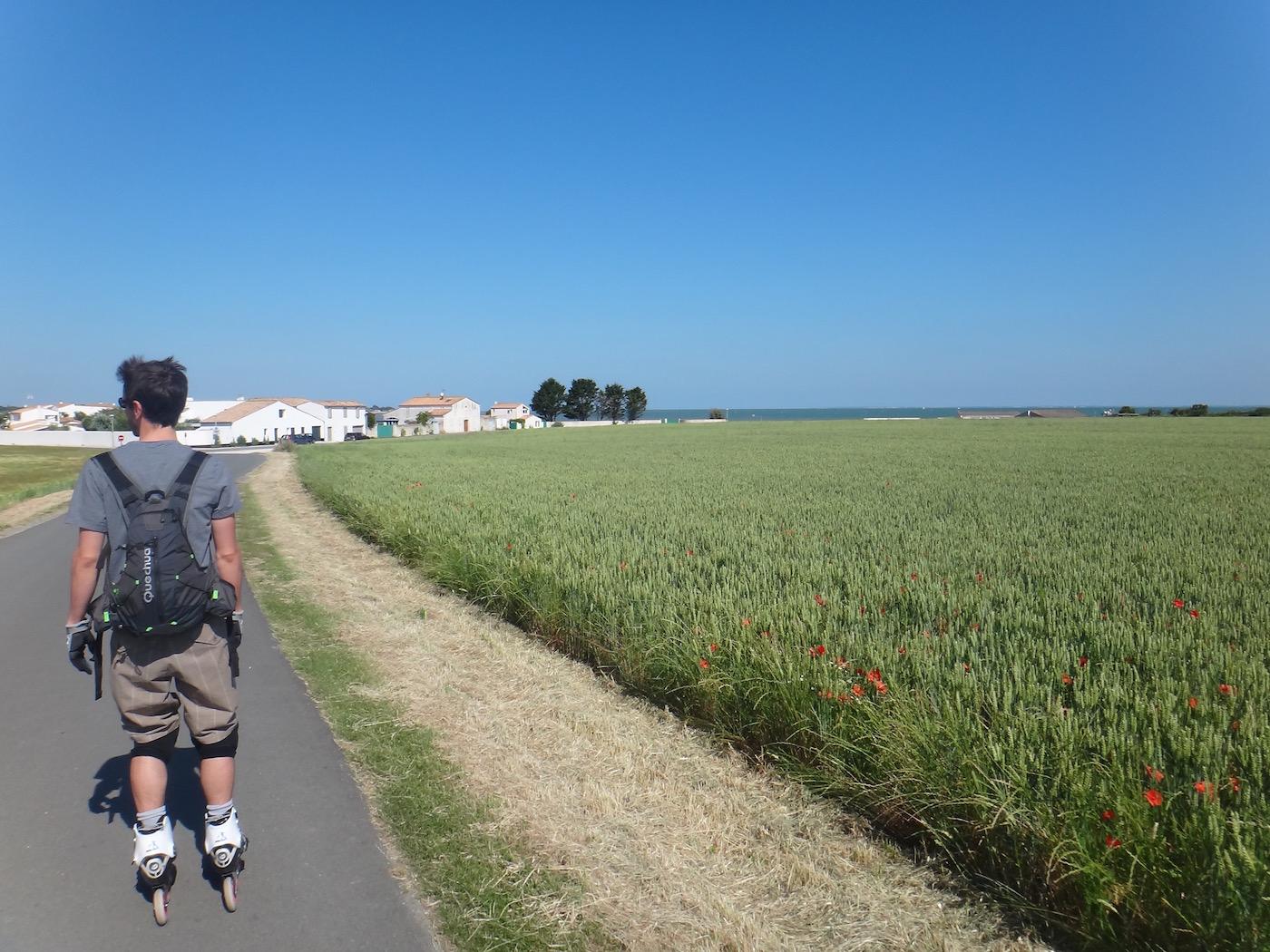 Ile de Ré en roller et en vélo