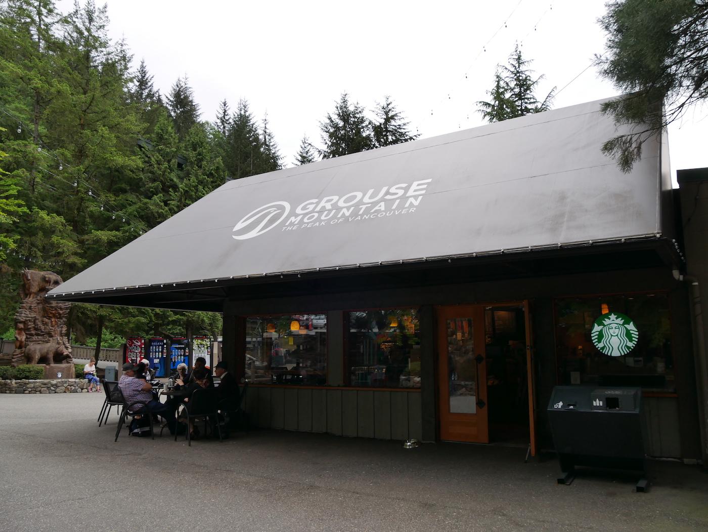 départ Grouse Mountain Vancouver