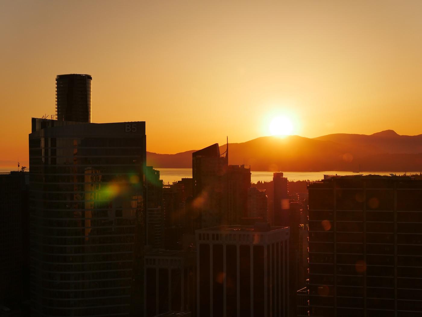Couché de soleil Tour Lookout Vancouver