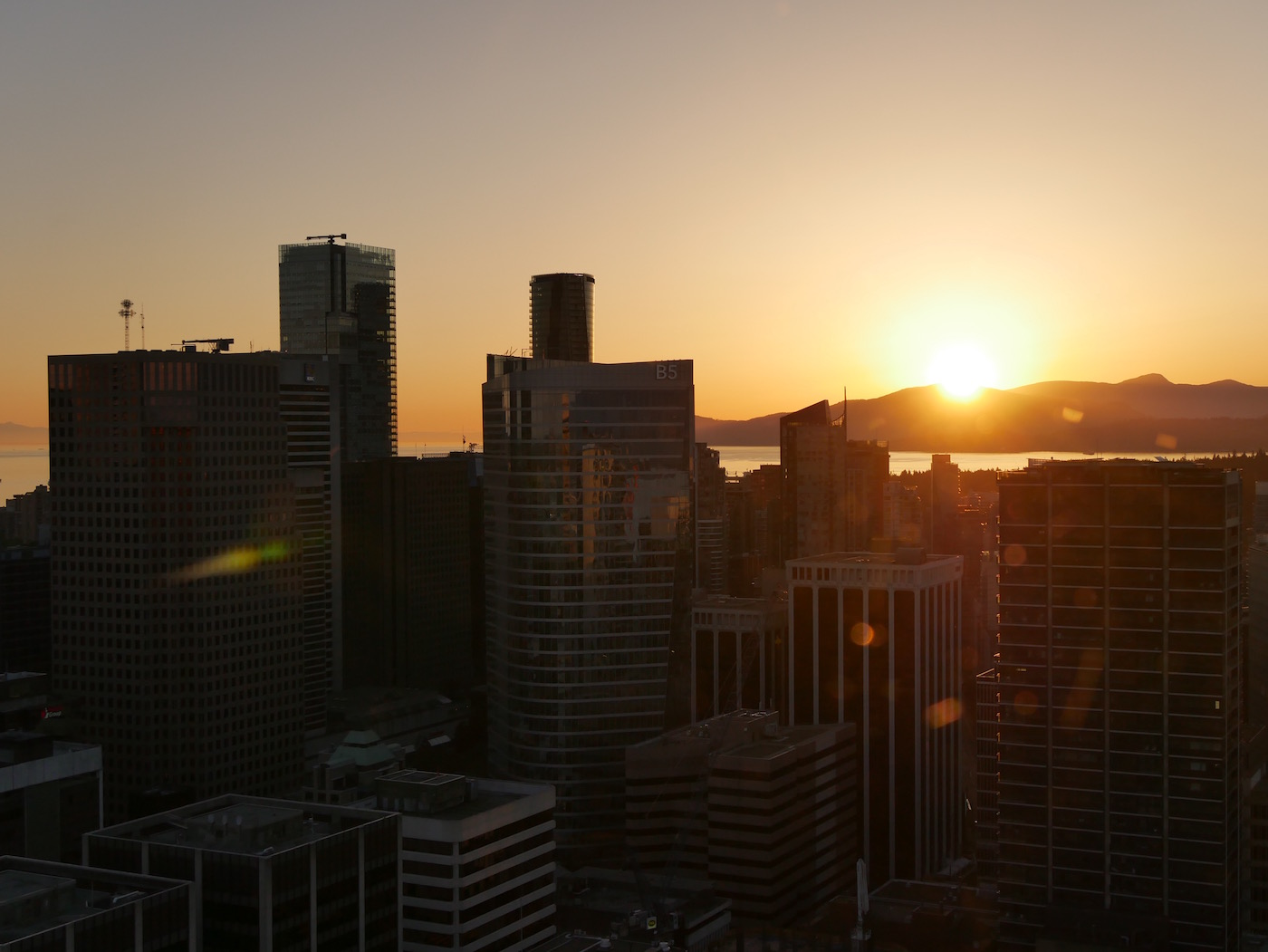 Couché de soleil Vancouver Tour Lookout