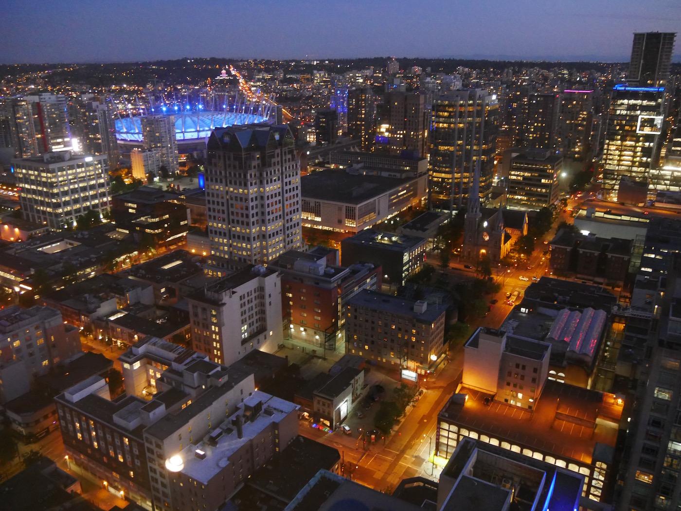 BC Stadium de nuit Tour Lookout Vancouver