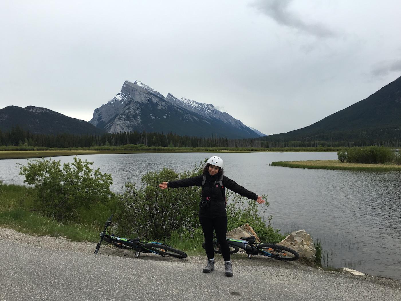 Rivière Bow en vélo Rocheuses Canadiennes