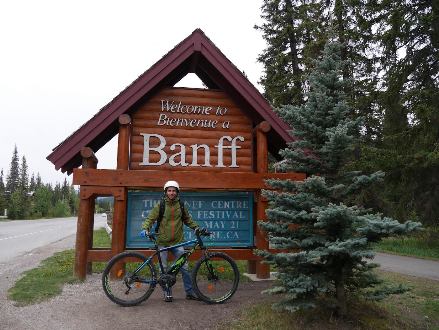 faire du vélo dans le Parc de Banff