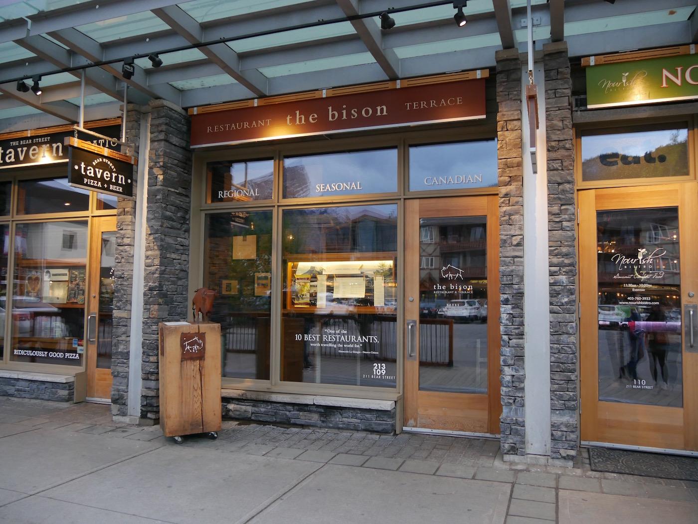 The Bison restaurant Banff