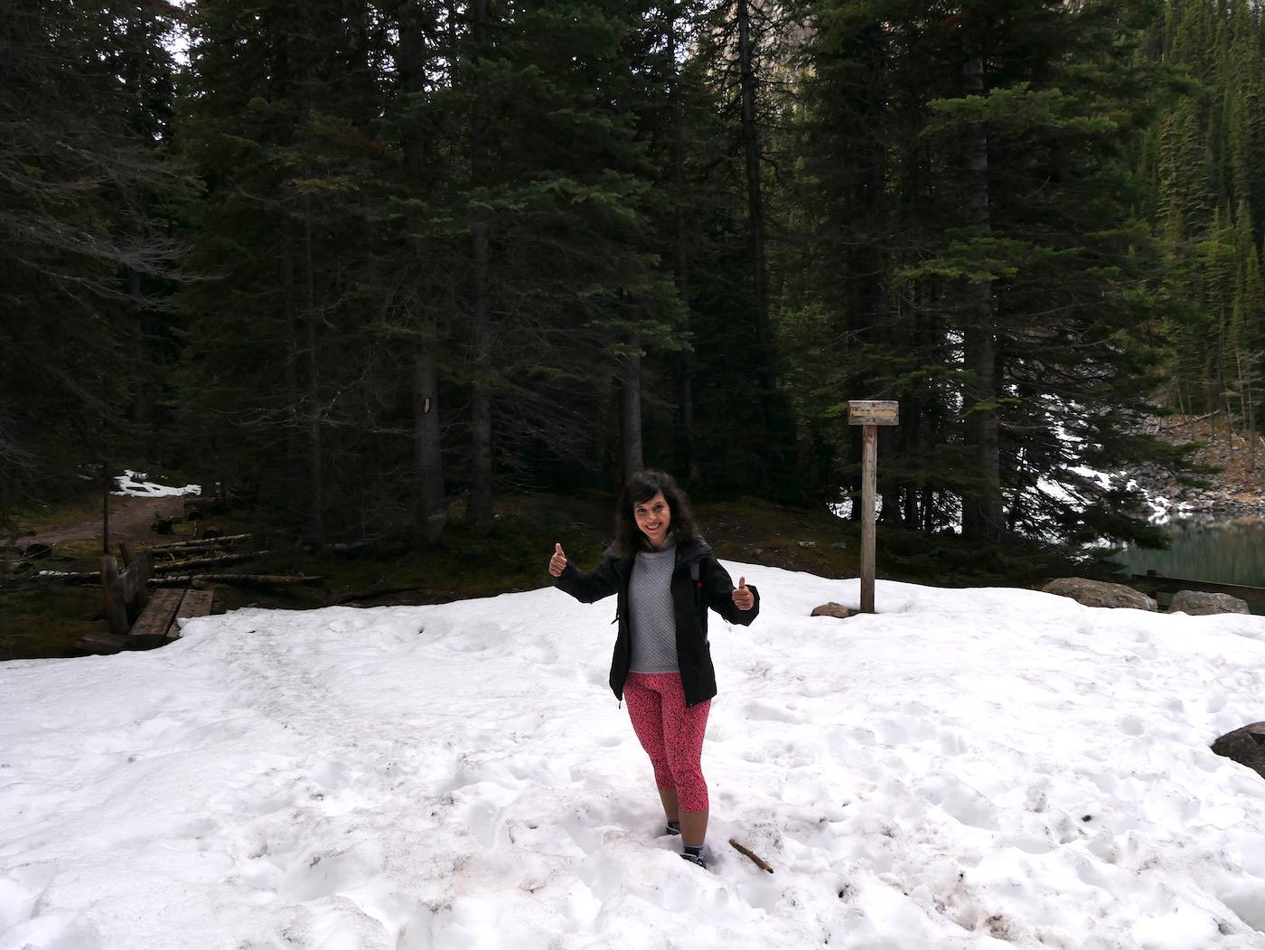randonnée Lac Louise au printemps