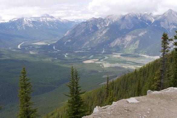 vue panoramique sur Banff