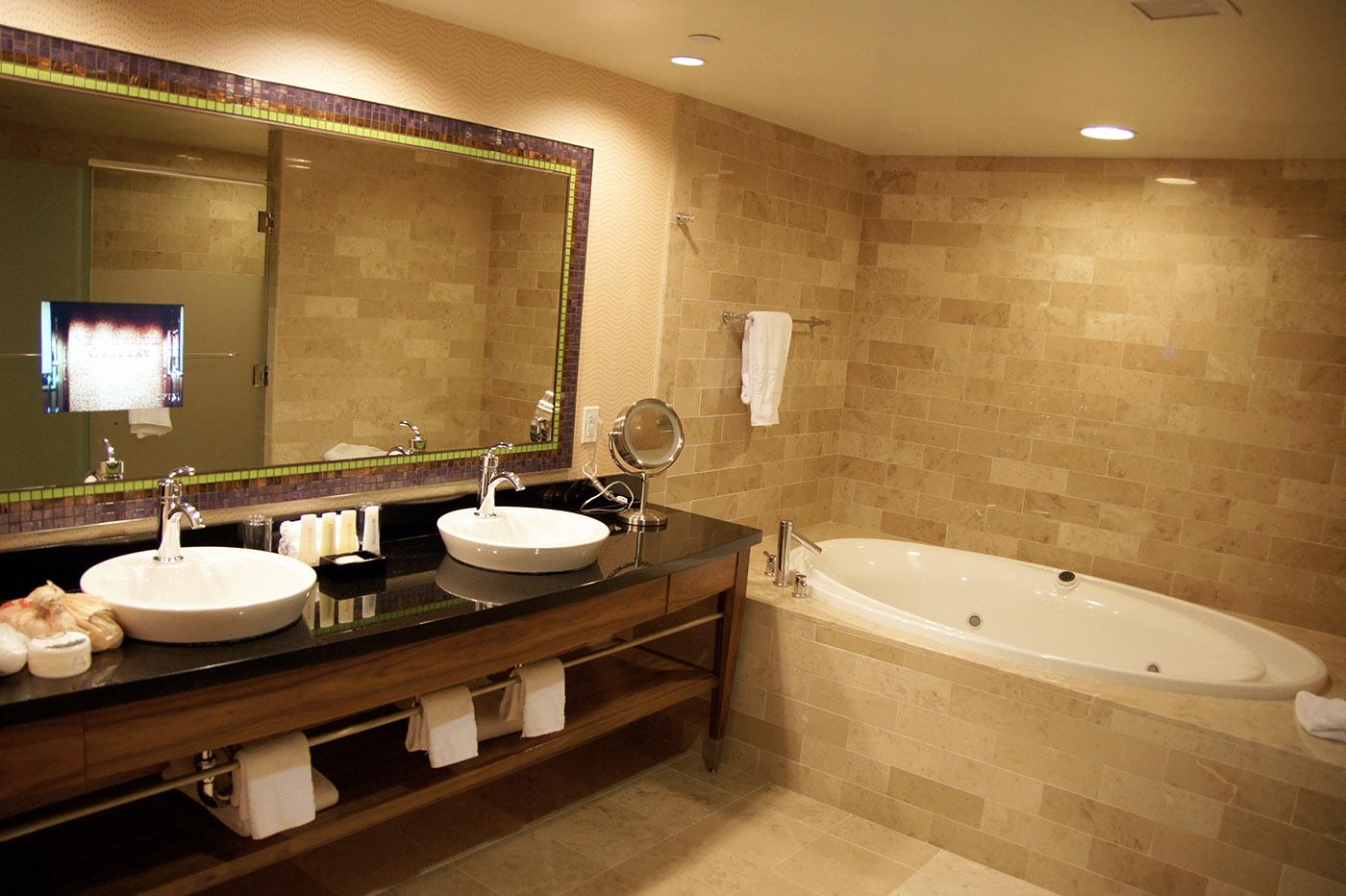 Salle de bain du Caesars Palace, célèbre hôtel à Las Vegas