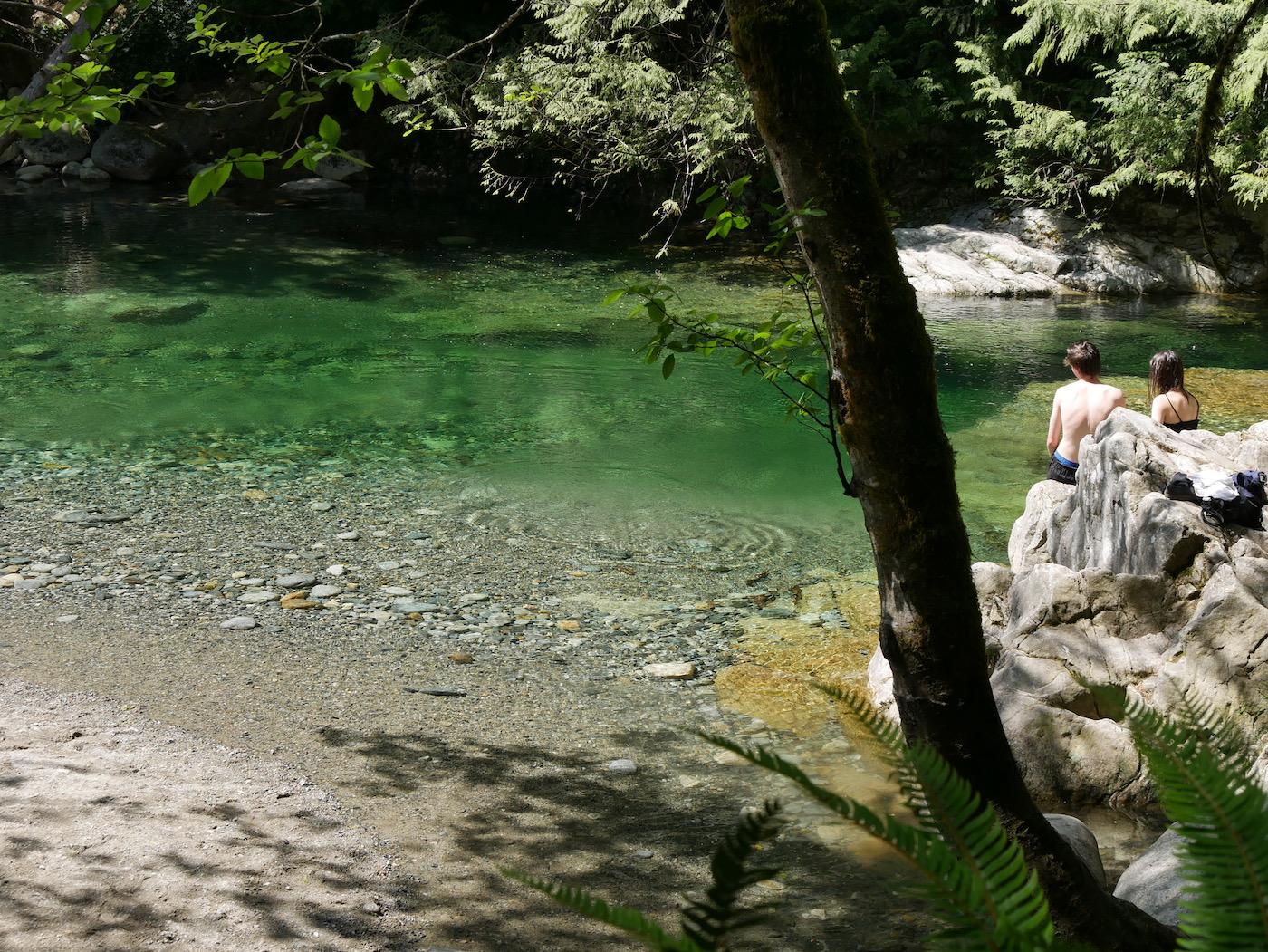 Se baigner à Vancouver