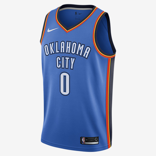 maillot-nba-Oklahoma-russell-westbrook