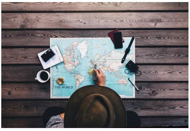 idée déco voyage : tableau préparatif voyage