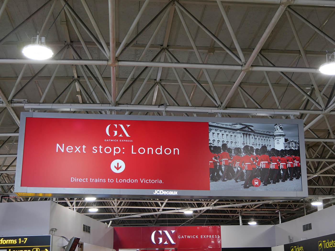 Londres depuis l'aéroport de Gatwick