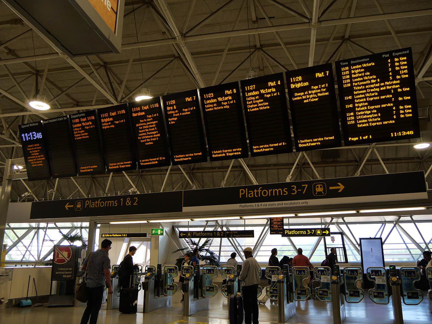Quel transfert entre Gatwick et le centre de Londres ?