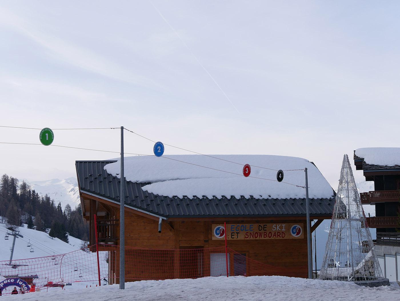 Chalet de l'école de ski français à La Plagne 1800