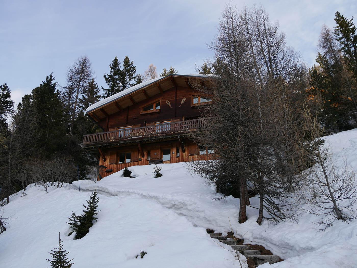 Chalet typique de la station de ski La Plagne 1800