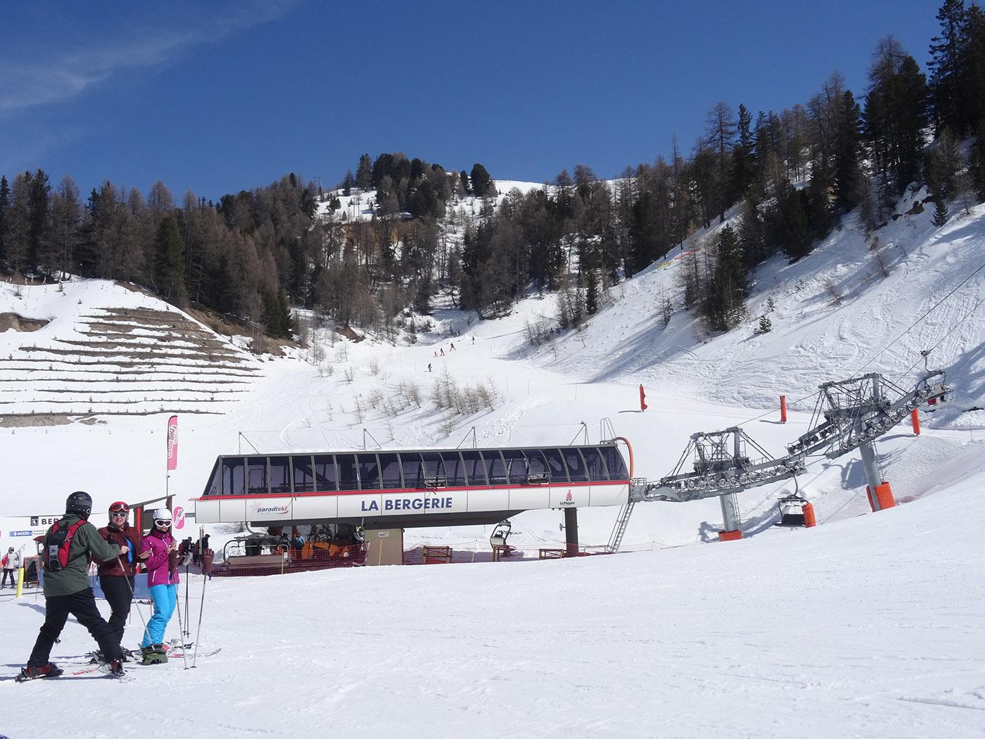Domaine skiable Paradiski accessible depuis les pistes de ski de La Plagne