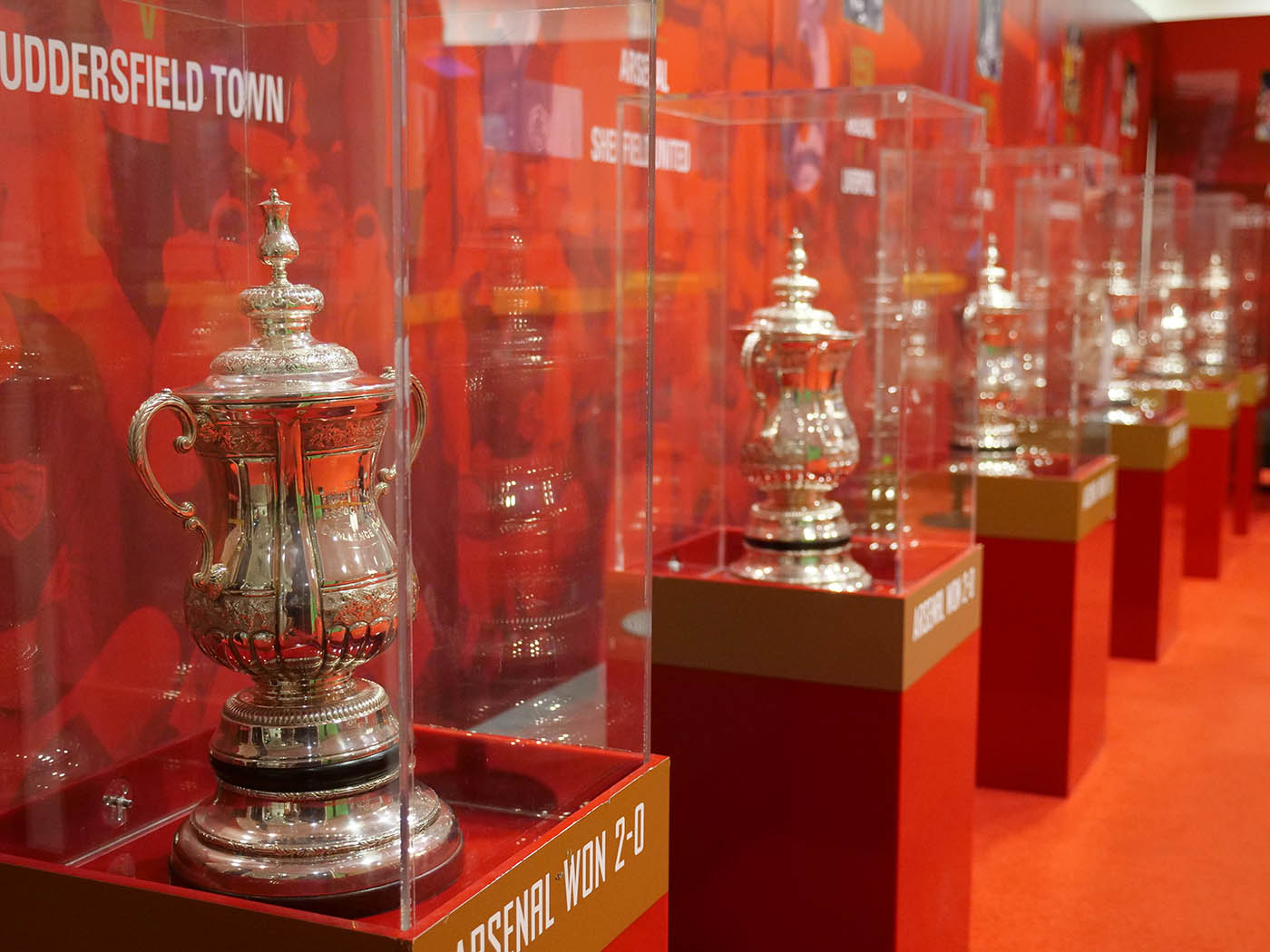 trophées visite stade arsenal
