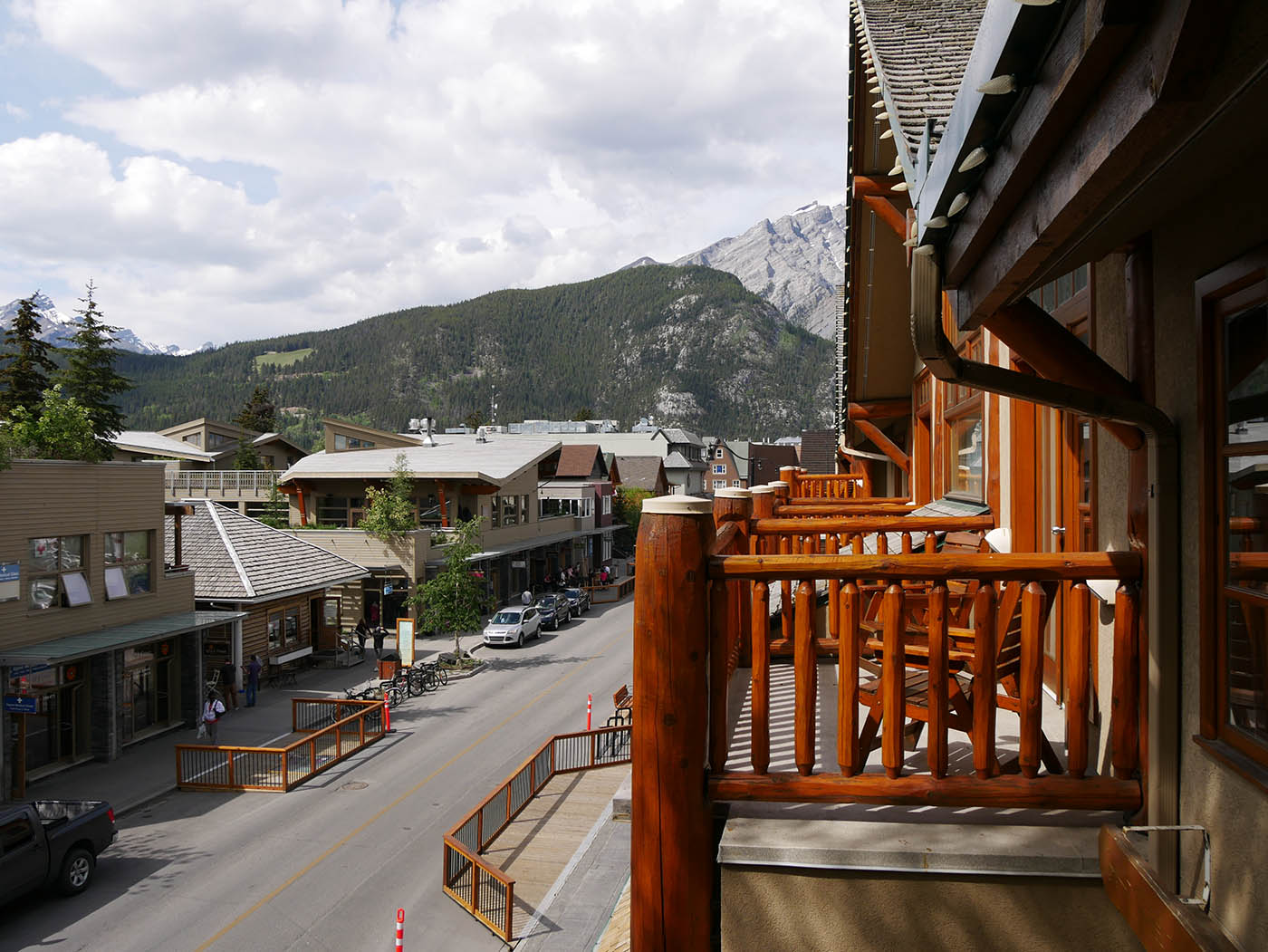 Brewsters Mountain Lodge Banff balcon
