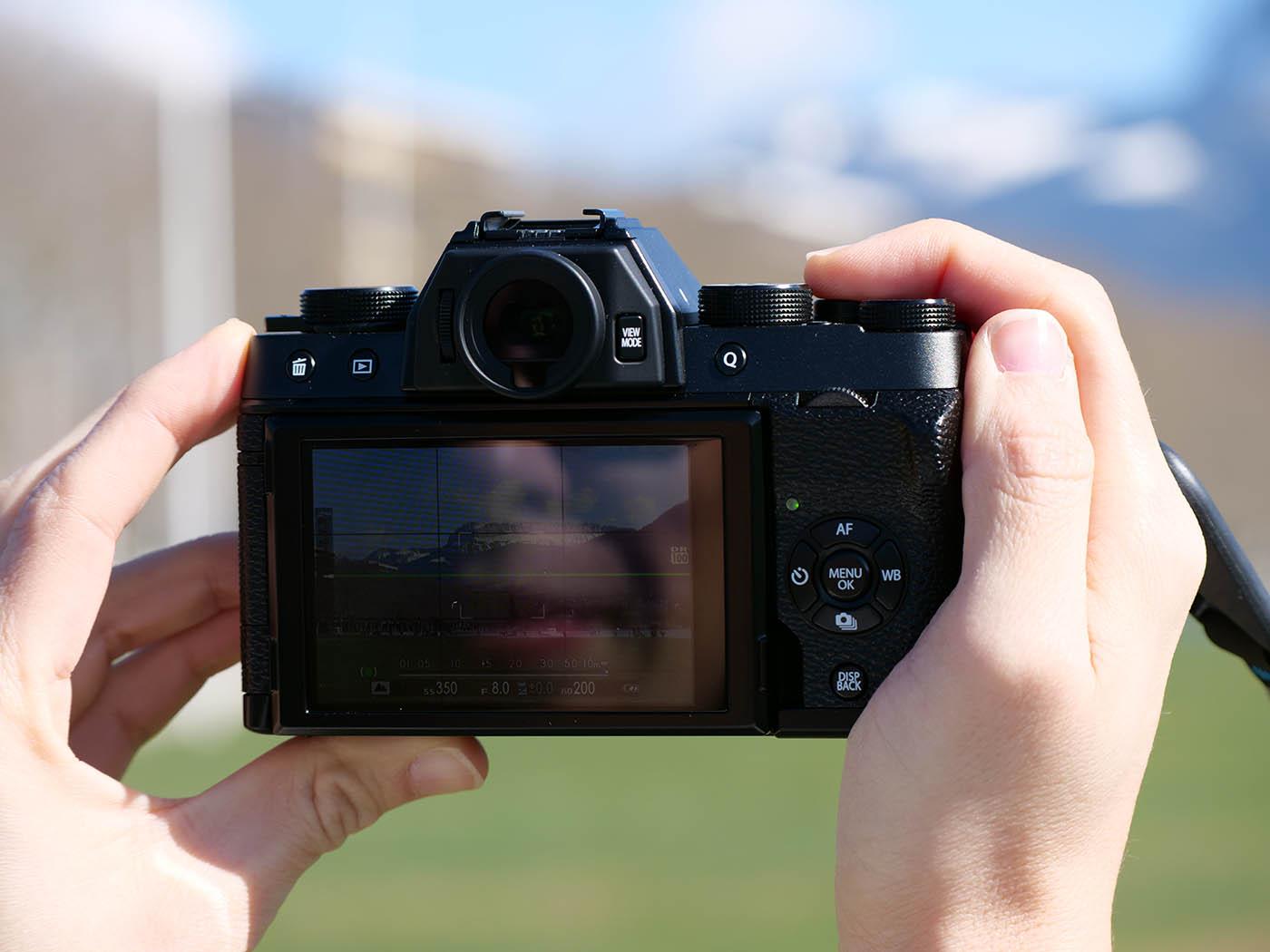 Fujifilm X T100 ecran