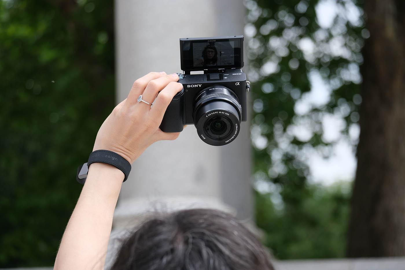 écran selfie Sony A6400