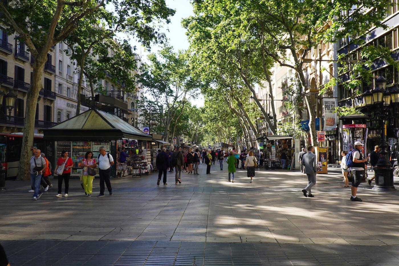 Ramblas Visiter Barcelone